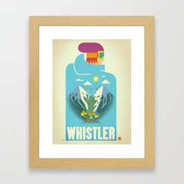"Vintage Whistler ""Blue Bird"" Travel Poster Framed Art Print"