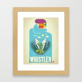 """Vintage Whistler """"Blue Bird"""" Travel Poster Framed Art Print"""