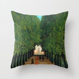 Henri Rousseau - Avenue in the Park at Saint Cloud Throw Pillow