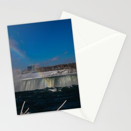 rainbow at the edge Stationery Cards