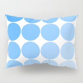 Blue Circle Color Chart Pillow Sham