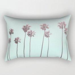Pink Light Paradiese Beach Palm Trees Rectangular Pillow