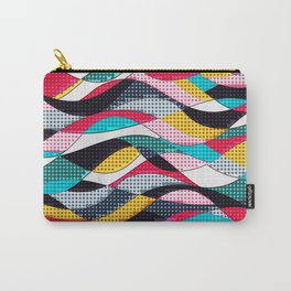 Pop Art Waves Carry-All Pouch