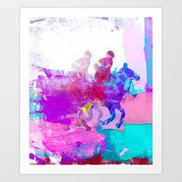 poloplayer abstract redblue Art Print