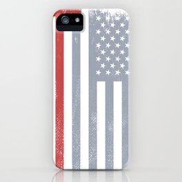 Thin Red Line Redline Gift American Flag Red Axe Firefighter iPhone Case