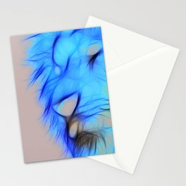 Lion - Flames Stationery Cards