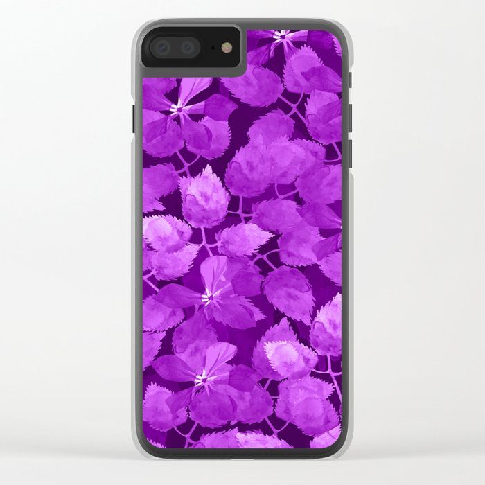 watercolor Botanical garden IV Clear iPhone Case
