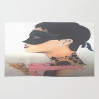 rihanna Area & Throw Rugs featuring Rihanna by Davoncornchip