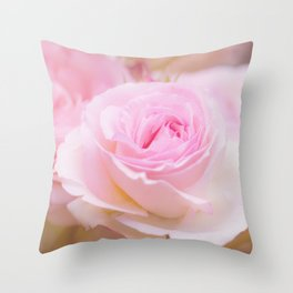 vintage pink rose Throw Pillow