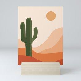 Desert climate, cactus , sun and sand  Mini Art Print