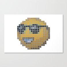 Emoticon Cool Canvas Print