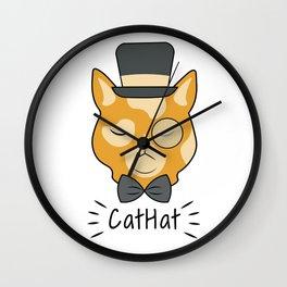 Cat Hat Arrogant Animal Love Pet Gift Wall Clock
