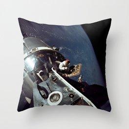 Apollo 9 - Spacewalk Throw Pillow