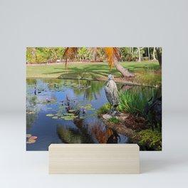 At the Pond Mini Art Print