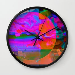 trippy dippy fish Wall Clock