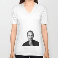 steve jobs V-neck T-shirts featuring Steve jobs by Angelina Fenty