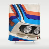 bmw Shower Curtains featuring BMW CSL by Internal Combustion
