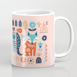 Soft And Sweet Scandinavian Fox Folk Art Coffee Mug