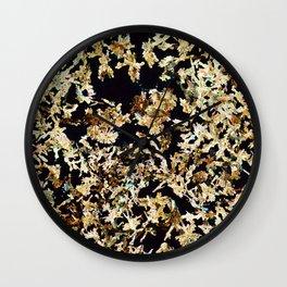 Magnesium Platino Cyanide Crystals Wall Clock