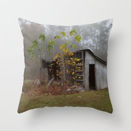 Misty Smokehouse Throw Pillow