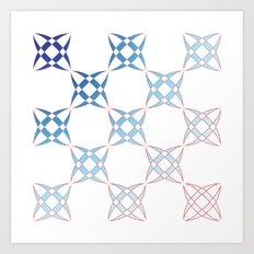 Checker C4 Art Print