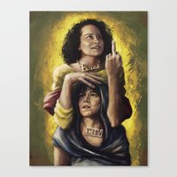 broad city Canvas Prints featuring Broad Saints by mycolour