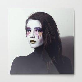 Makeup Smeared Eyes  Metal Print