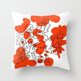 Orange Soup Throw Pillow