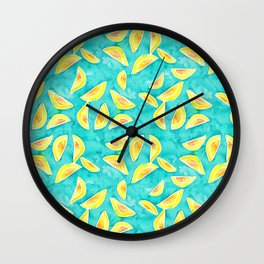 Juicy Lemons Wall Clock
