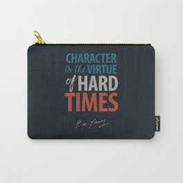 De Gaulle on Difficulties and Hard Times - Poster Illustration for inspiration and motivation Carry-All Pouch