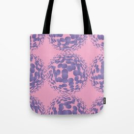 Ultra violet halftone circles seamless pattern. Vector illustration Tote Bag