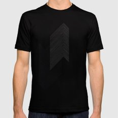 Arrows by Friztin Mens Fitted Tee MEDIUM Black
