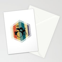 Retro Drums Stationery Cards