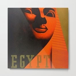 1930's Art Deco Travel Poster - Egypt for Winter Sunshine featuring Great Sphinx of Giza Metal Print