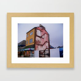 Redcar /fish and chips Framed Art Print