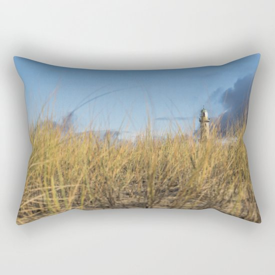 The Lighthouse at the Sea on #Society6 Rectangular Pillow