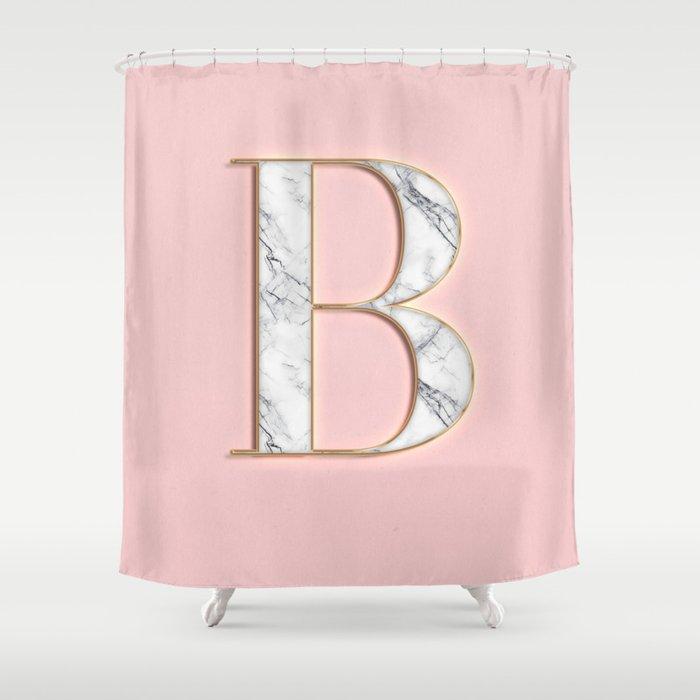 B letter monogram Shower Curtain