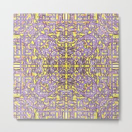 Fretwork in the Maze Metal Print