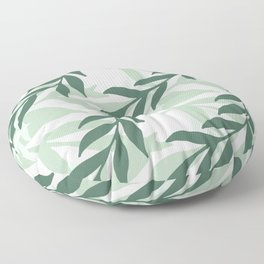 Leaves And Plants Floor Pillow