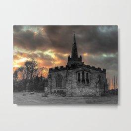 Weston church in the evening Metal Print