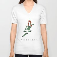 poison ivy V-neck T-shirts featuring Poison Ivy by BatSpats