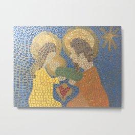 Mosaic Nativity Metal Print