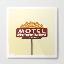 SUNSET MOTEL Metal Print