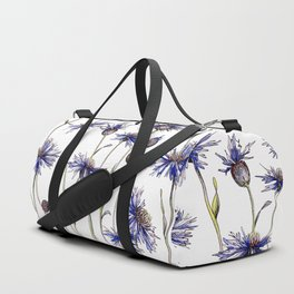 Blue Cornflowers, Illustration Duffle Bag