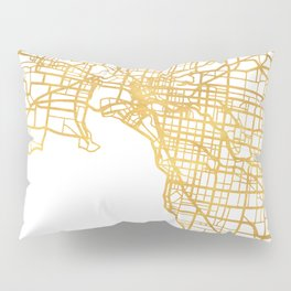 MELBOURNE AUSTRALIA CITY STREET MAP ART Pillow Sham