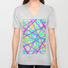 Abstract Lines CYM Unisex V-Neck