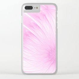 Pink Spring   Flower, abstract digital painting, cute floral pattern, pretty pastel flowers Clear iPhone Case