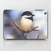 marley iPad Cases featuring Marley the black-capped chickadee by Sarah Knight