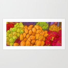 Frutas - Puerto Morelos, Quintana Roo, Mexico Art Print