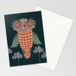 The owl of wisdom Stationery Cards